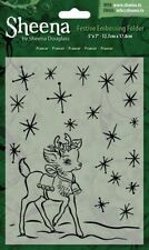 "SALE New Sheena Douglass Christmas Embossing Folder 5x7"" Prancer"