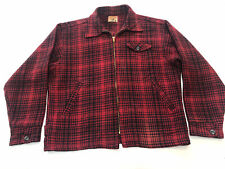 New listing Vintage 50s Chill Chaser Plaid Wool Chore Hunting Field Buffalo Work Jacket L