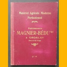 Catalogue MATÉRIEL AGRICOLE  Éts MAGNIER-BÉDU charrue brabant Début 20ème s.