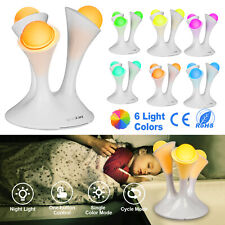 Romantic US Plug Glowing Globes LED Night Light Sensor Baby Bed Room Lamp Decor