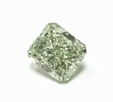 Real 1.28ct Natural Loose Fancy Light Yellow Green Color Diamond GIA Radiant SI2