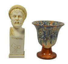 Pythagoras sculpture bust plus Pythagoras cup of justice