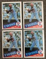 Lot (4) 1985 Topps #536 Kirby Puckett - Minnesota Twins Rookie Card *READ*