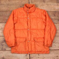 """Mens Vintage North Face 1970s Orange Down Puffer Jacket Coat Large 42"""" R8632"""