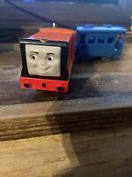 Trackmaster Motorized Thomas & Friends Train Rusty Car Hit Toy