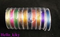 8 Rolls 10M Mixed colour TigerTail Beading wire 0.38mm