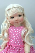Monique LEXY Wig Blch Blonde Size 12-13 SD BJD shown on My Meadow BAILEY