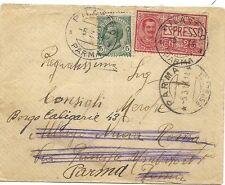 P8883   Parma, Pilastro, busta espresso per Parma, 1914