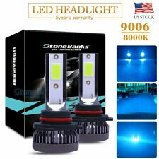 2PCS Ice blue 9006 LED Headlight Bulbs 110W 22000LM 8000K High Low Beam