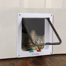 4 Way Pet Cat Kitten Magnetic Lock Lockable Safe Flap Door Gate Frame S M L Xl