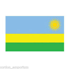 RWANDA POLYESTER INTERNATIONAL COUNTRY FLAG 3 X 5 FEET