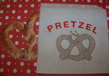Pretzel Bags Cute Vintage Graphics 10 Bags  With Cute Smiling Pretzel Graphics!