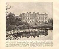 1894 Viktorianisch Aufdruck ~Longleat Wiltshire~ Plus Beschreibende Text