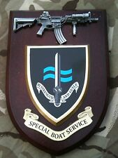 SBS Special Boat Service with Pewter Demarco New Military Wall Plaque