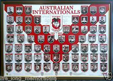 ST GEORGE ILLAWARRA DRAGONS INTERNATIONALS POSTER FRAMED AND FULLY GLASSED