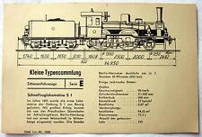 DDR Kleine Typensammlung Schienefahrzeuge - Schnellzuglokomotive S 1