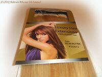Sleek Remy Human Hair Extensions Full Head 100% Human Hair Remi European W Weft