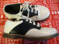 Stride Rite Blue White Leather Saddle Shoes Children Oxford Size 8M Lace Up  274