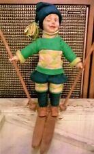 "Lenci Doll ""Winker� Winking Character Boy In Ski Costume"