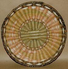 Vintage Hopi Plaque Native American Wicker Basket