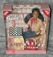 """2000 Mattel Barbie African American """"Country Charm"""" Nib Never Opened"""