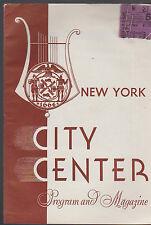 Gypsy Baron New York City Center Program & Magazine November 1944