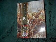 KEEPSAKES PUZZLE IN GIFT BOX-BLACKWATER PASSAGE-DEER BY STREAM 500 PIECE -NEW