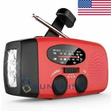 2000mAh Emergency Solar Power Hand Crank Weather Radio Bank Charger Flash Light