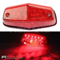 Universal 12V Lucas Style LED Tail Light Lamp Brake Stop Light For Dual Sport MX
