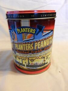 1998 Planters Mr. Peanut Limited Edition Round Decorative Metal Tin Empty