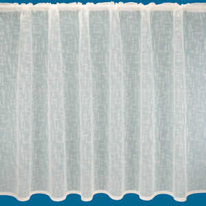 """Now Reduced - """"Sydney"""" Cream Net Curtain - Free Postage - Sold By The Metre"""