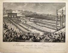 """Eau-forte de HELMAN, """"Fédération générale des Français"""""""