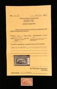 U.S: UNUSED #293 VERY LIGHTLY HINGED OG W/PF CERTIFICATE CV $1,900