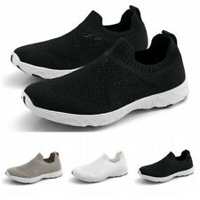 35-46 Women Men Slip On Sport Walking Shoes Breathable Sneaker Unisex Athletic D