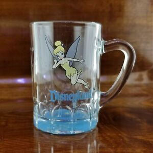 Vintage Disneyland Peter Pan's TINKERBELL Glass Mini Mug