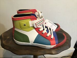 NEW WITH TAGS Hunter Men's Multi Rubber High Top Sneakers sz 8 Med M080 NO BOX