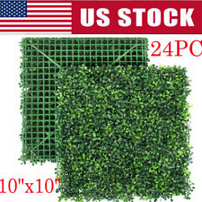 24pcs Artificial Boxwood Mat Wall Hedge Decor Privacy Fence Panel Grass 10x10