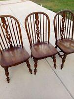 Ethan Allen Vintage Furniture 3 Dinning Chairs 1980