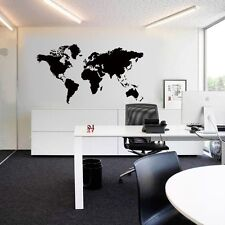 Large World Map Removable Wall Sticker Decal DIY Mural Art Home Office Stickers