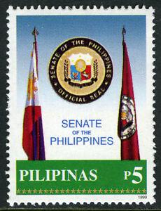 Philippines 2630, MI 3084, MNH. Senate of the philippines. Flags, Emblem, 1999