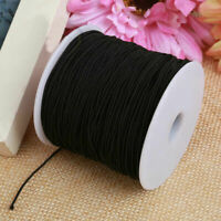 Super Soft Round Elastic String Cord White 0.8-1.5mm for face masks, hats, etc