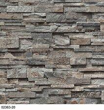 P+S Vliestapete Einfach Schöner 02363-20 Steine Mauer 3D Grau Braun Beige Creme