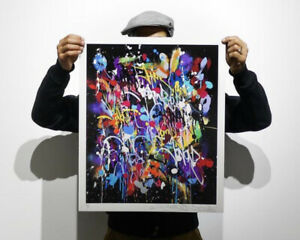 "JonOne ""My World"" Limited Edition Print xx/407 Signed, Numbered, COA Sold Out"