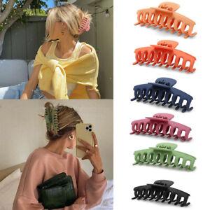 Boho Women Hollow Hair Clip Acrylic Hairpins Acetate Pure Color Large Hair Claws