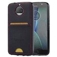 Motorola Moto G5s 5s Plus Case, Slim Fit Back Cover w/ Card Pocket - Black