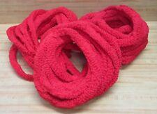 Lot of 3 Huge Bundles of Red Jumbo Loopy Ruffled Bumpy Craft Chenille Yarn VTG