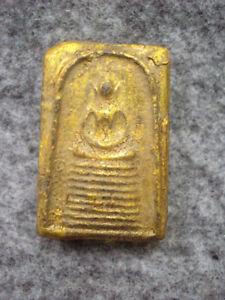 Phra Somdej Toh Wat Phra Kaew Talisman Old Gem Takrut Thai Buddha Amulet