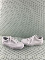 VANS Old Skool All White Canvas Lace Up Low Top Shoes Men's Size 6.5  Women's 8