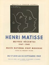 Henri Matisse lithograph poster (printed by Mourlot)