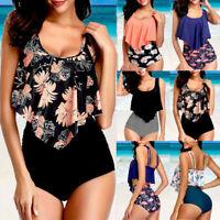 Women Push Up Padded Bra Bikini Set High Waist Swimsuit Bathing Suit Swimwear